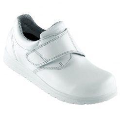 pd sikkerhedssko classic sundhedssko med bred velcro hvid produkt